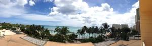 Pacific Beach Hotelからの眺め。オーシャンフロントとはいえ、4Fと低層階のため、イマイチかな!?